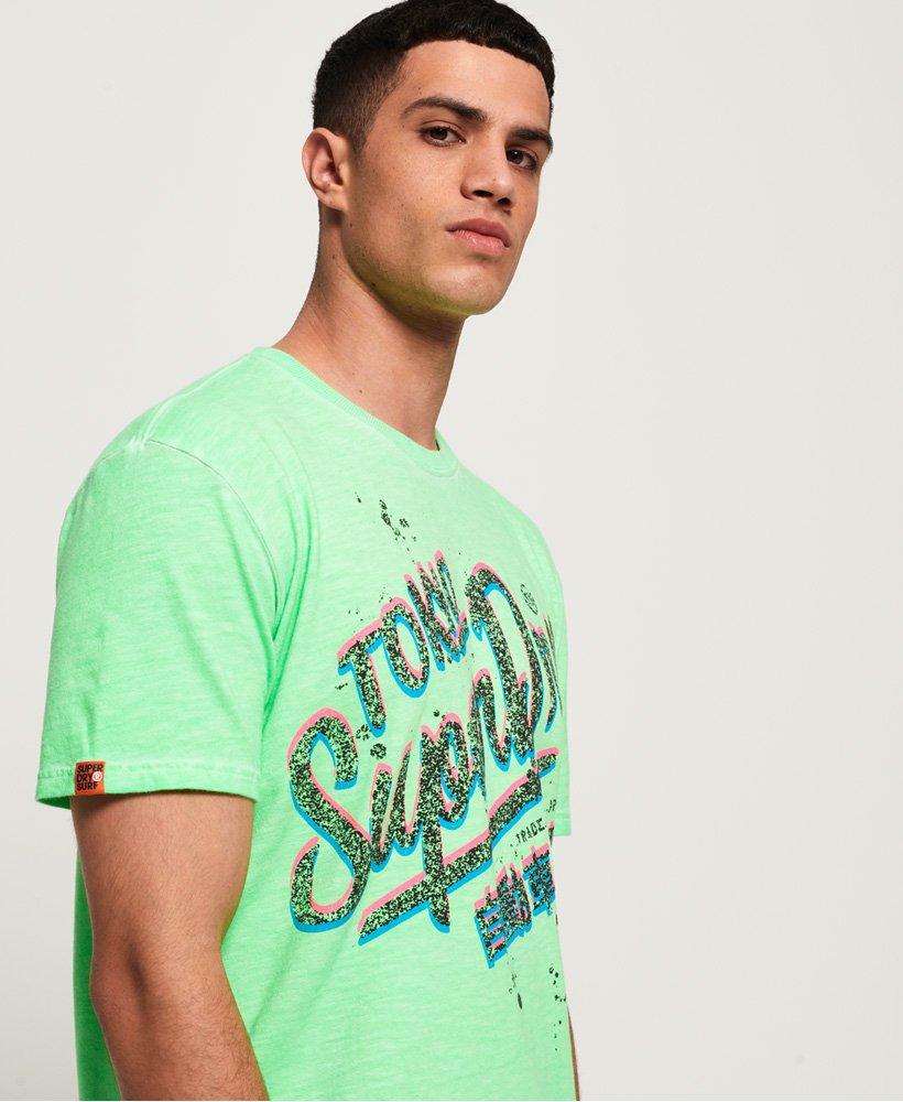 Freddo Uomo Acid Pacifica Superdry A Oversize Tinta T Shirt Da 8qIZ44