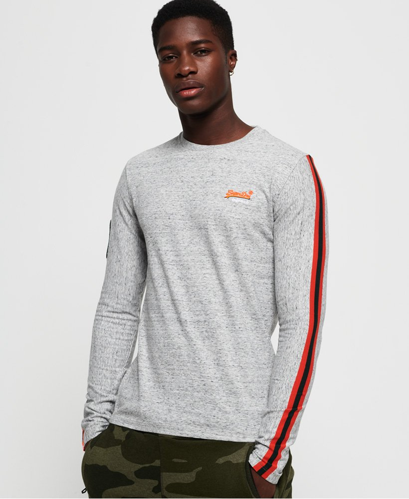 Superdry Orange Label Sport Stripe Long Sleeve T-Shirt