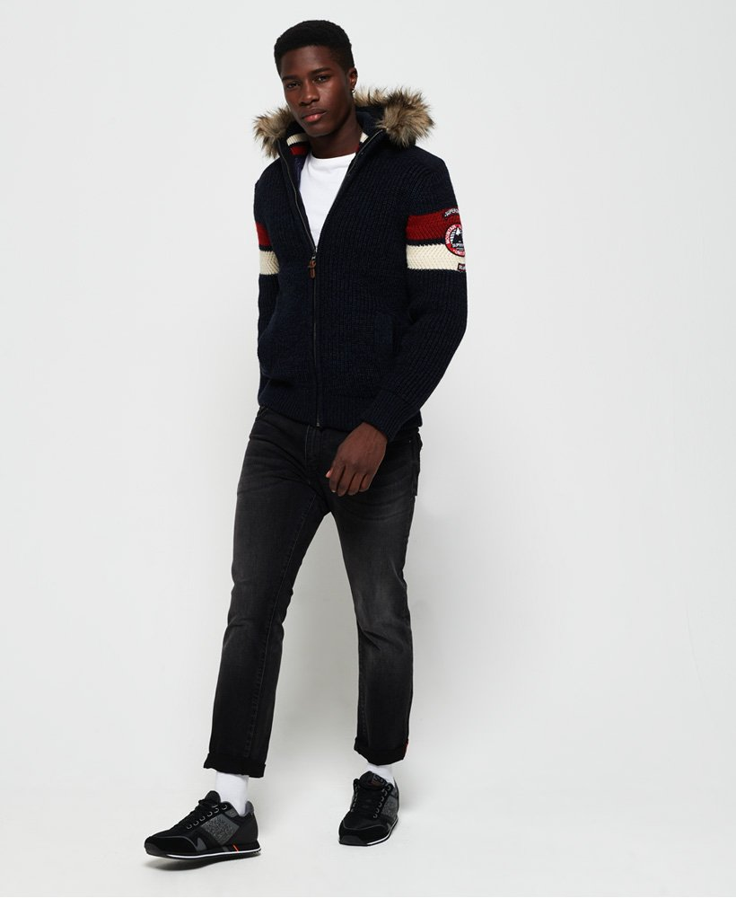 Superdry Gilet à capuche Super Ski Dog Homme Sale Knitwear