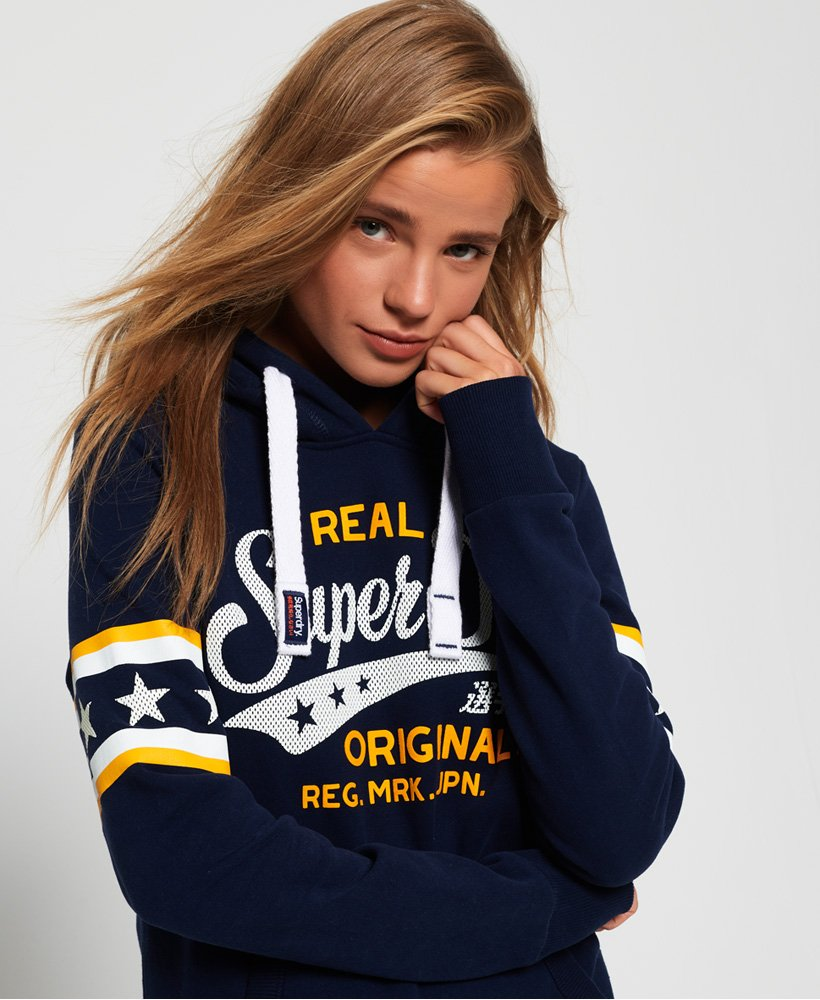 Superdry Real Originals Airtex Hoodie thumbnail 1