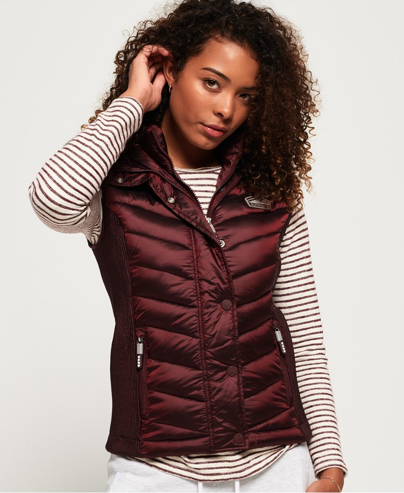 Superdry Luxe Chevron Double Zip Vest
