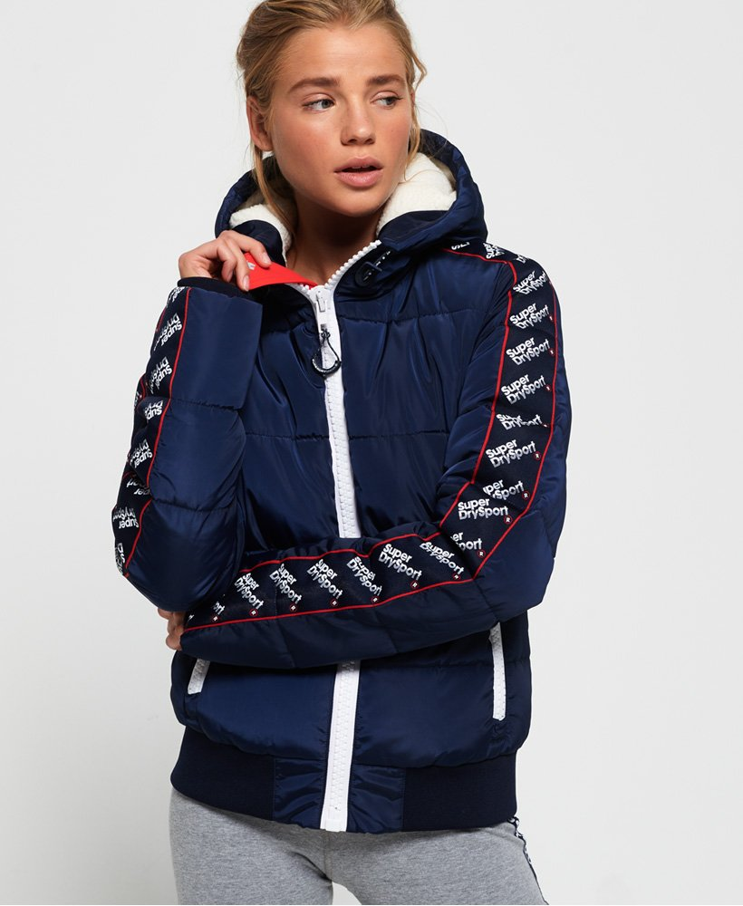 77bca87e04f Womens - Streetwear Repeat Puffer Jacket in Navy