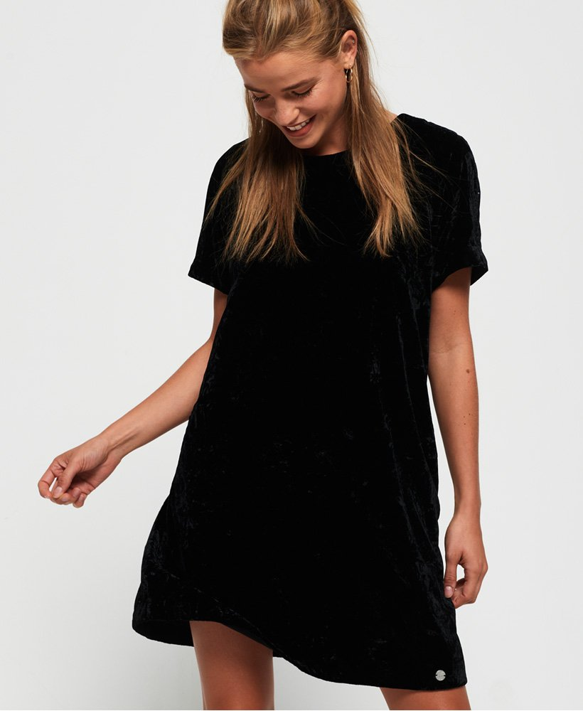 Superdry Leonie Velvet T-Shirt Dress  thumbnail 1