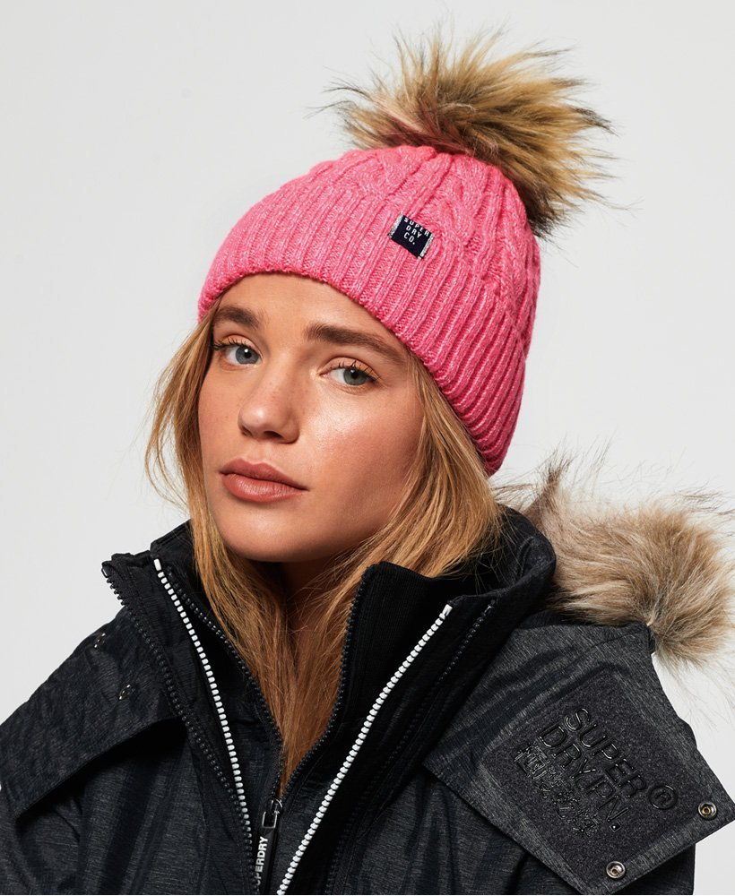 Superdry Croyde Cable Beanie