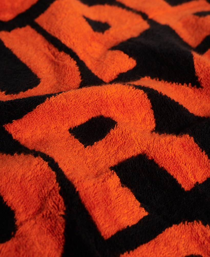 New Mens Superdry Hand Sport Towel Fluro Orange
