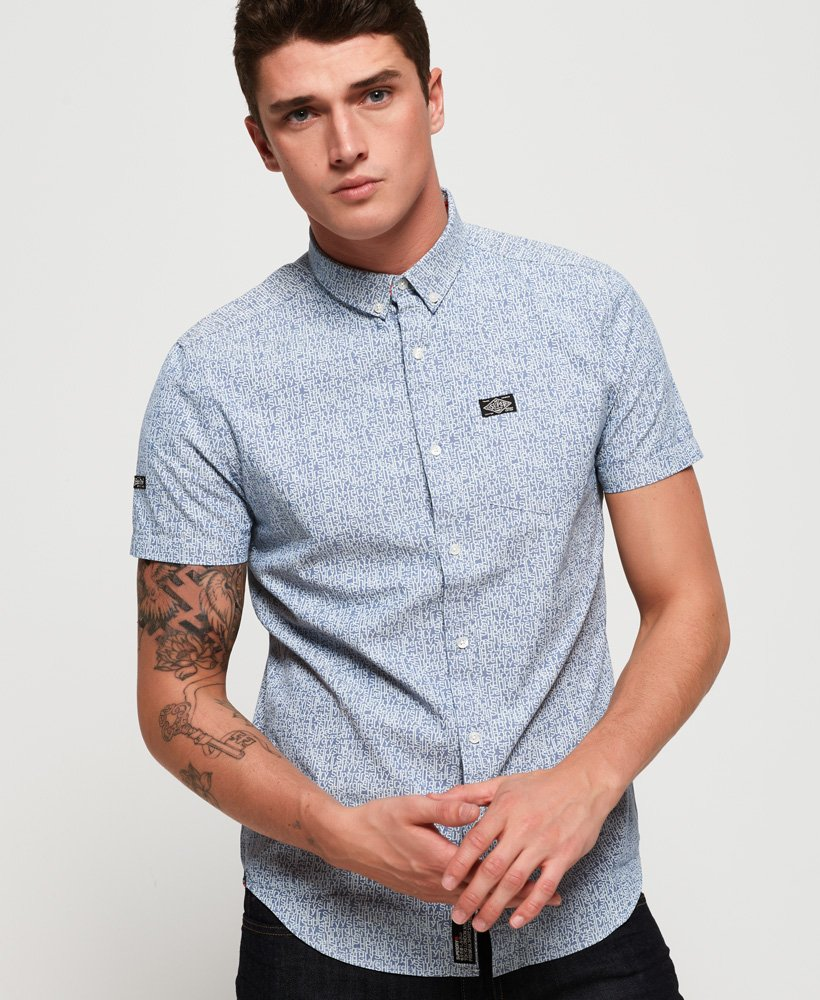 Superdry Shoreditch Button Down Short Sleeve Shirt thumbnail 1