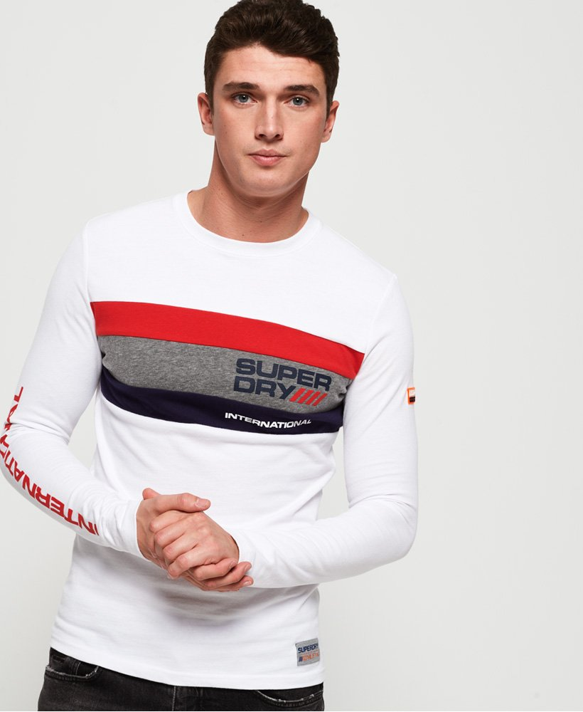 Superdry Trophy Tri Colour Long Sleeve T-Shirt thumbnail 1