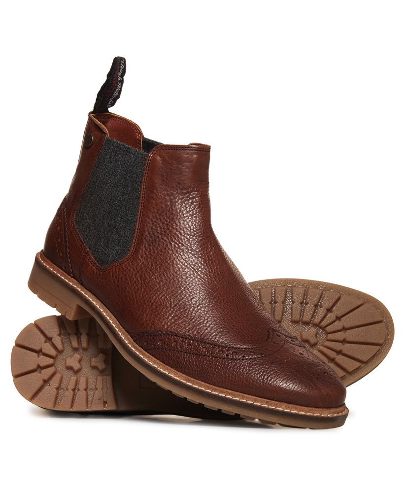 Superdry Brad Brogue Chelsea Boot thumbnail 1