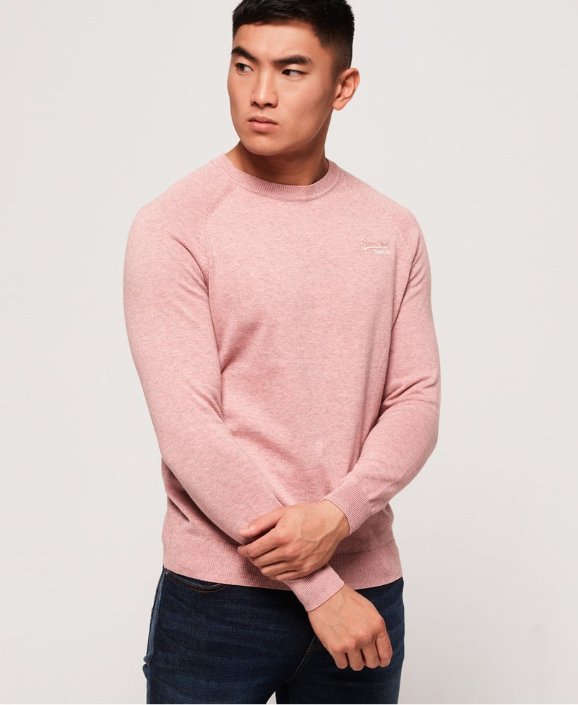 Superdry Orange Label Cotton Crew Jumper thumbnail 1
