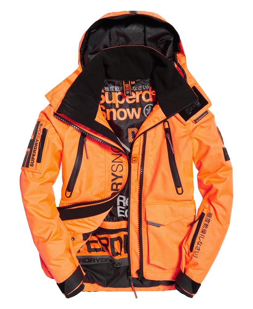 Mens Ultimate Snow Rescue Jacket In Hyper Orange Superdry