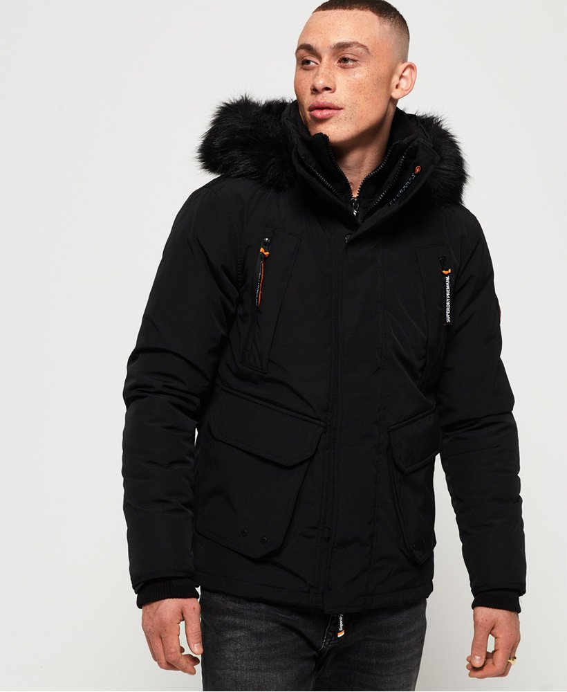 Mens Premium Ultimate Down Jacket in Black | Superdry