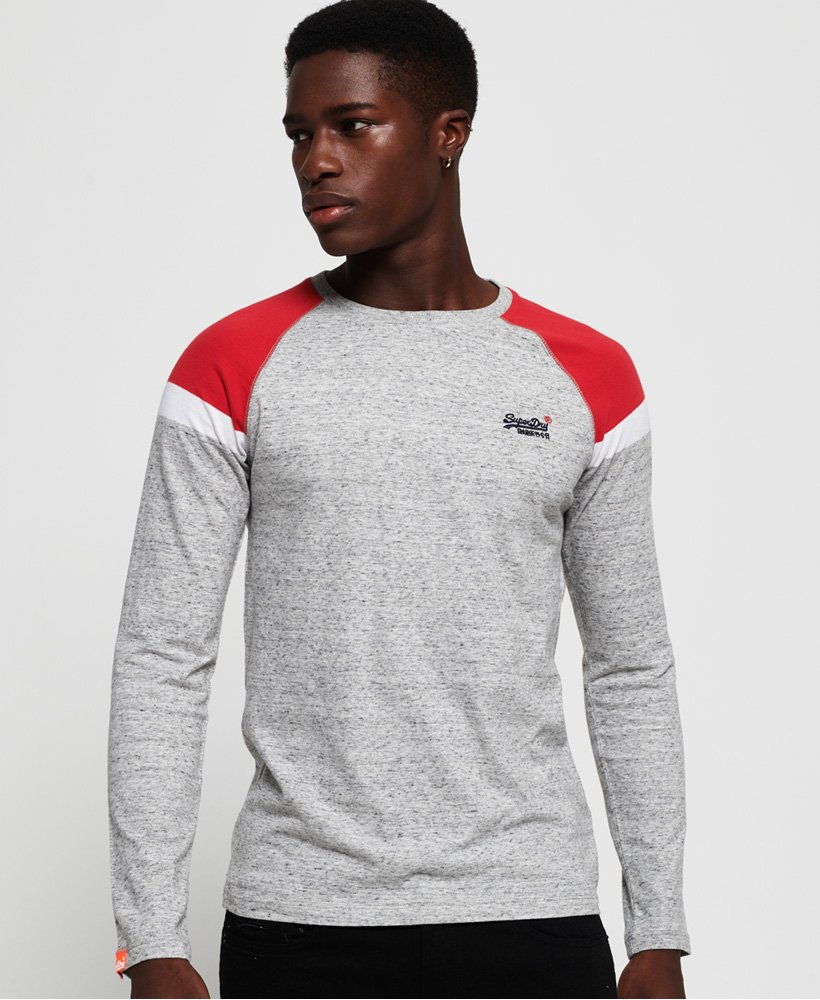 Superdry Engineered Baseball Long Sleeve Top