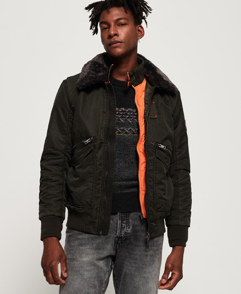 Superdry Winter Hercules Bomber Jacket thumbnail 1