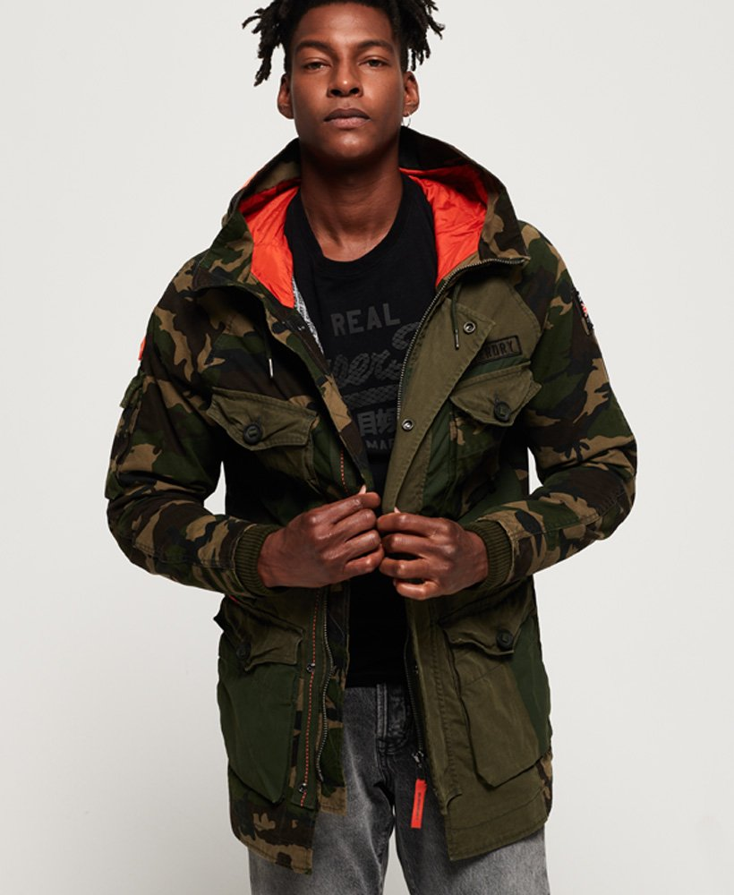 Superdry Rookie Camo Mix Parka  thumbnail 1