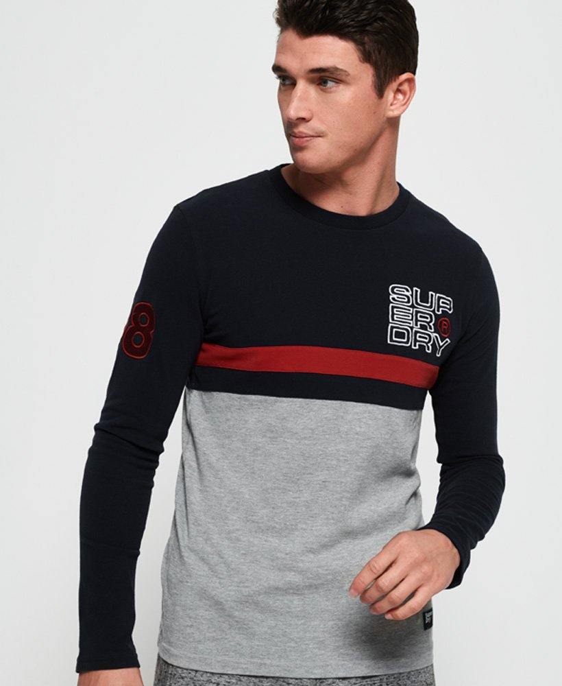 Superdry Applique Cut & Sew Long Sleeve T-Shirt