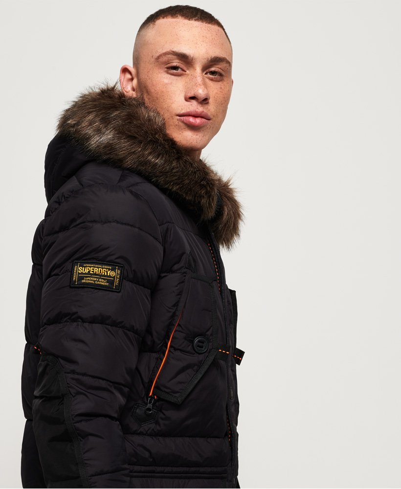 Mens Black Chinook Superdry Jacket In Parka BYBx0r