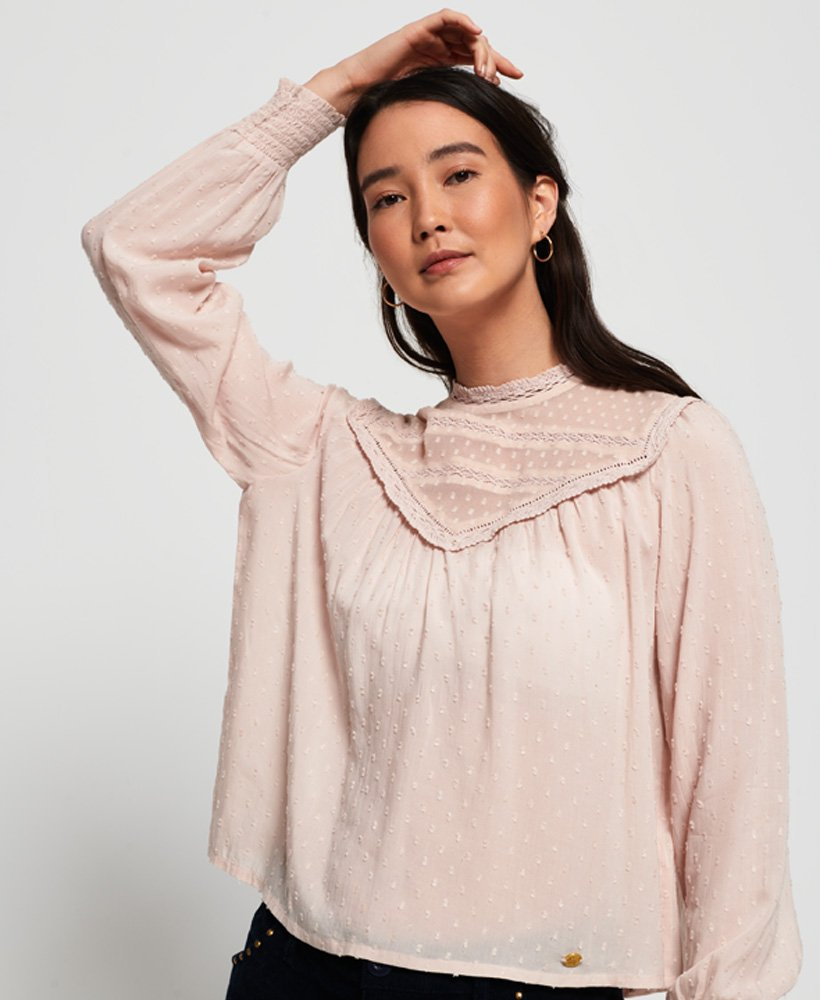 Superdry Rosey Lace Top thumbnail 1