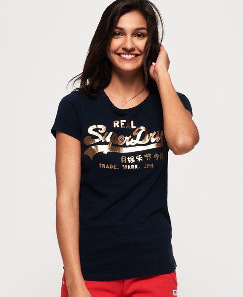 Superdry T-shirt à logo vintage métallisé