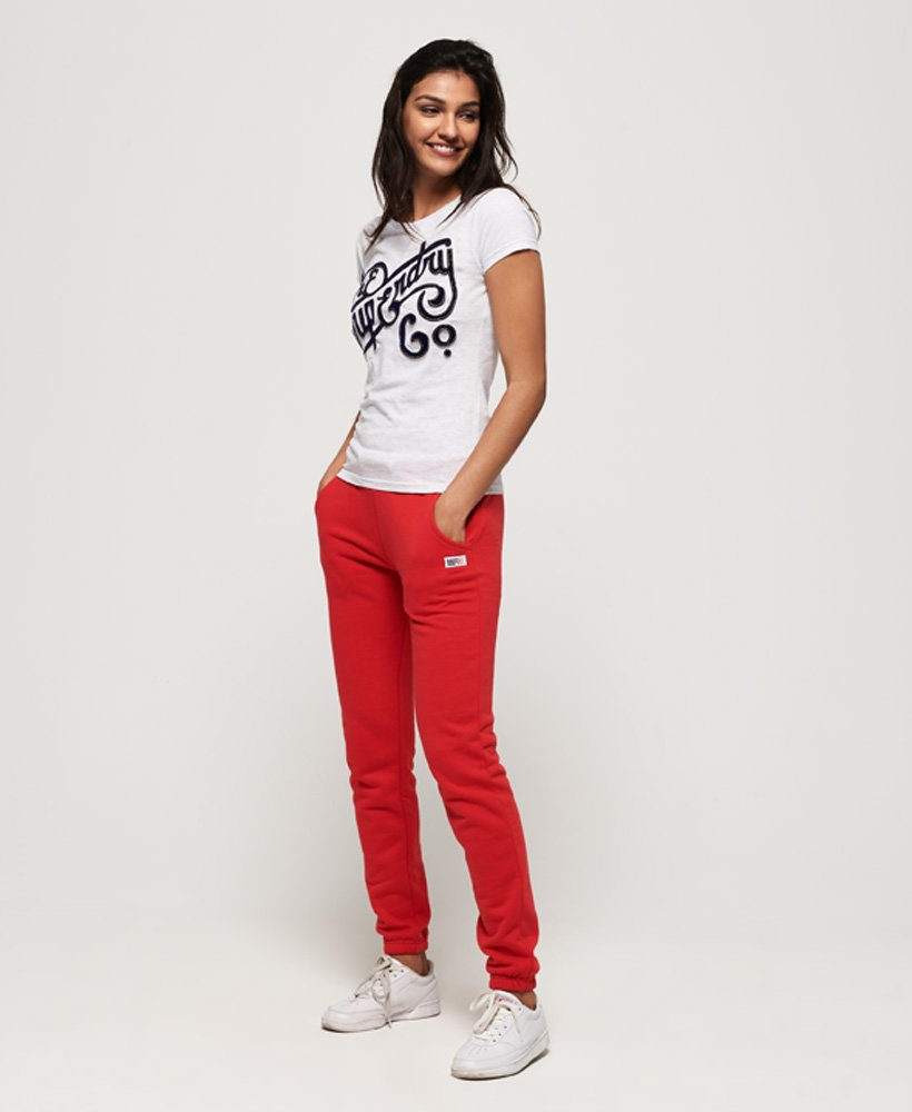 Superdry Womens Super Co Flock Embossed T-Shirt