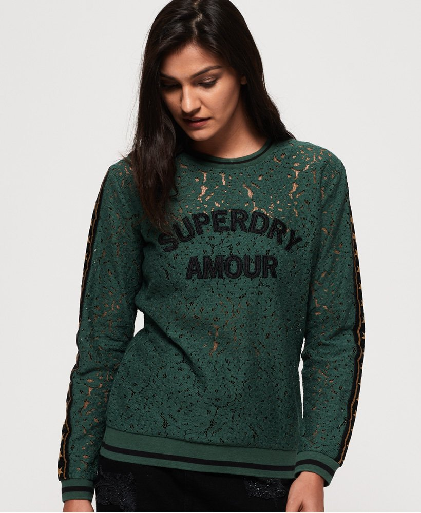 Superdry Rock Lace Long Sleeve Top  thumbnail 1