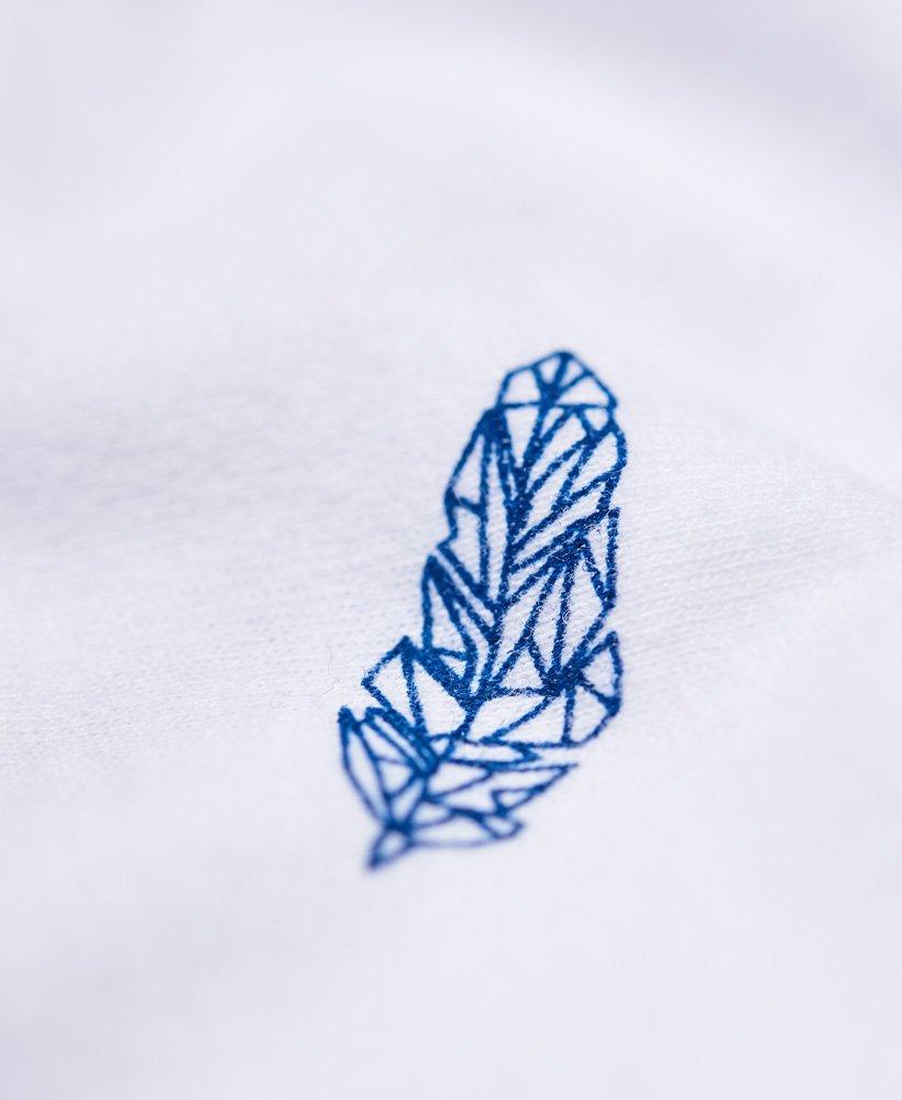 New Mens Superdry All Over Print Lite Pocket T-Shirt Optic White
