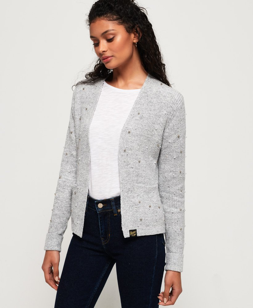 Superdry Rayna Rib Short Cardigan thumbnail 1