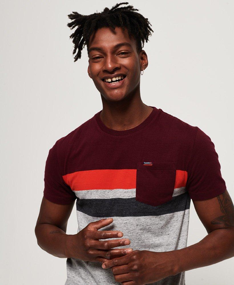 Superdry T-shirt rayé à poche Terrace thumbnail 1