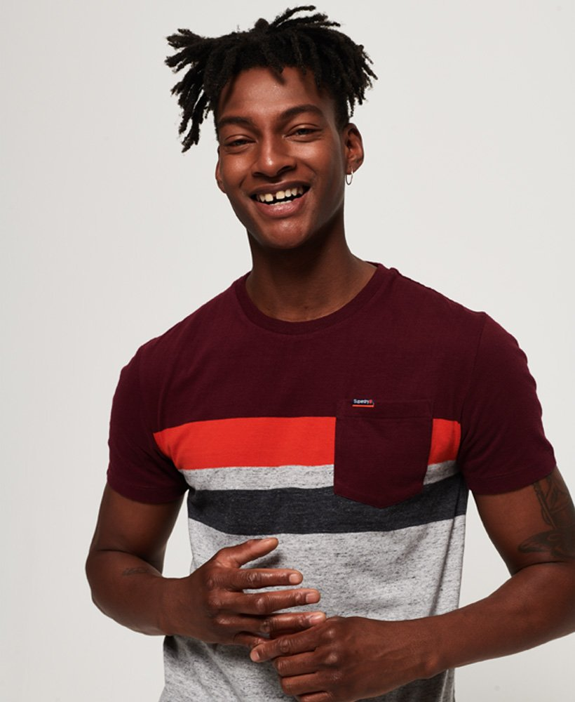 Superdry Terrace Stripe Pocket T-Shirt thumbnail 1