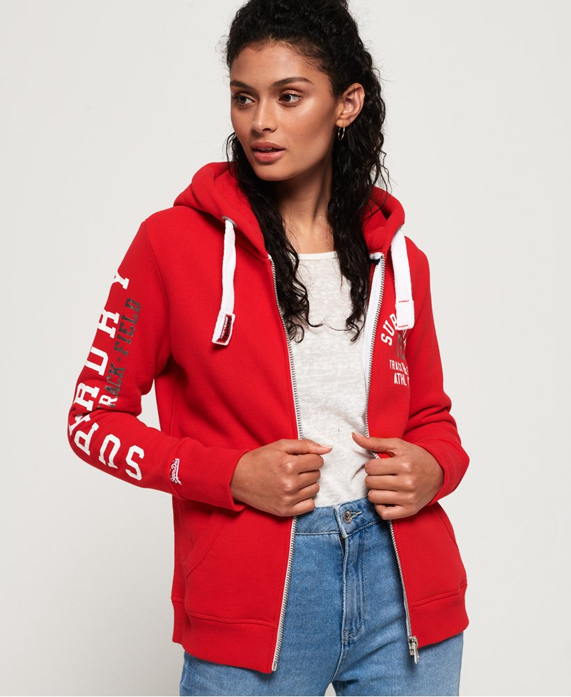 Superdry Track And Field Ziphood Felpa Donna