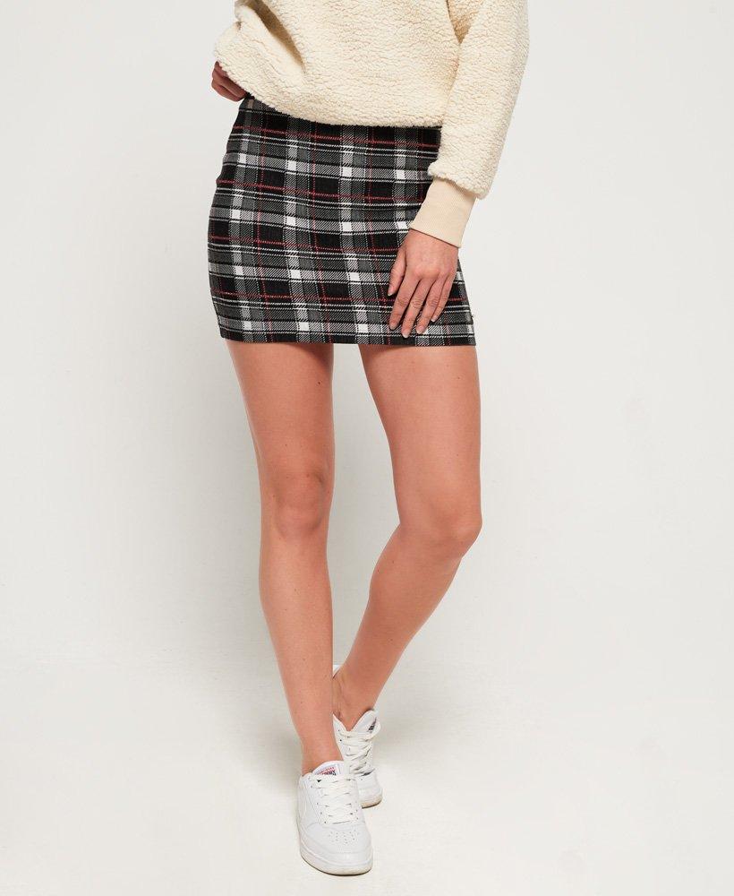 Superdry Edison Check Mini Skirt thumbnail 1