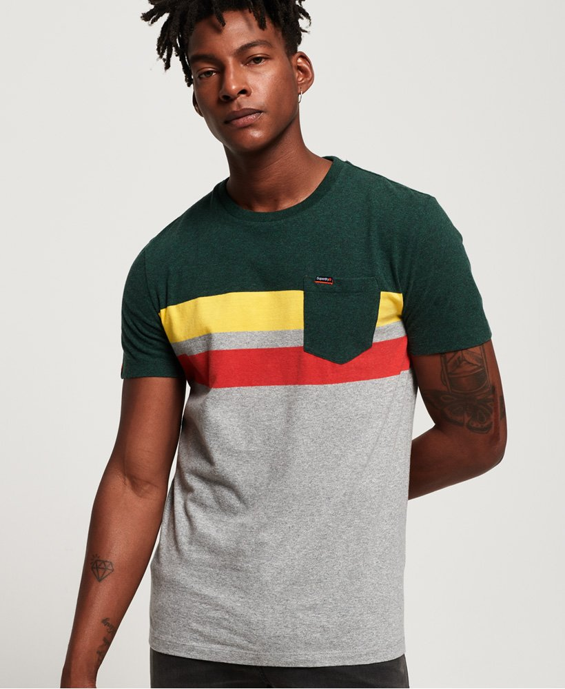 Superdry Terrace Stripe Pocket T-Shirt thumbnail 1