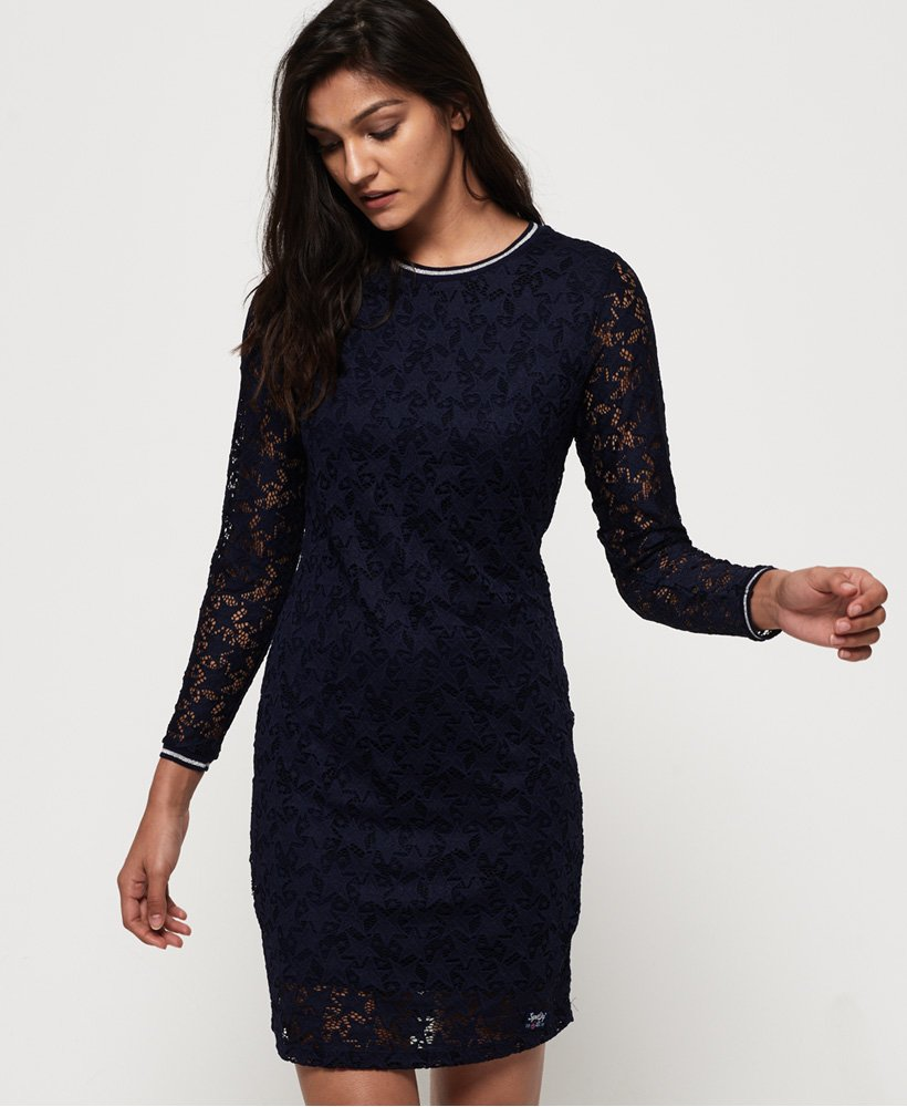 Superdry Imogen Star Lace Dress thumbnail 1