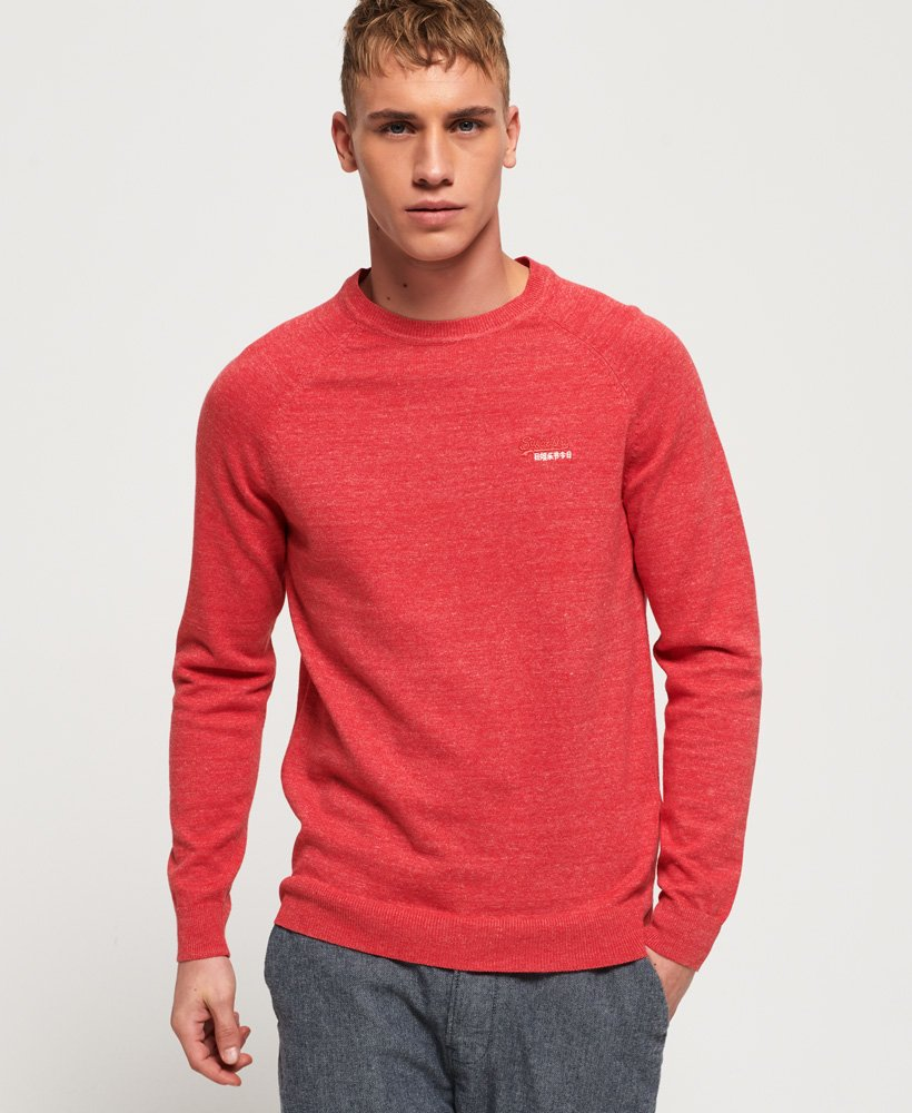 Superdry Pull ras du cou Orange Label en coton thumbnail 1