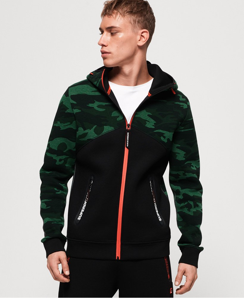 Superdry Gym Tech Spliced Zip Hoodie thumbnail 1