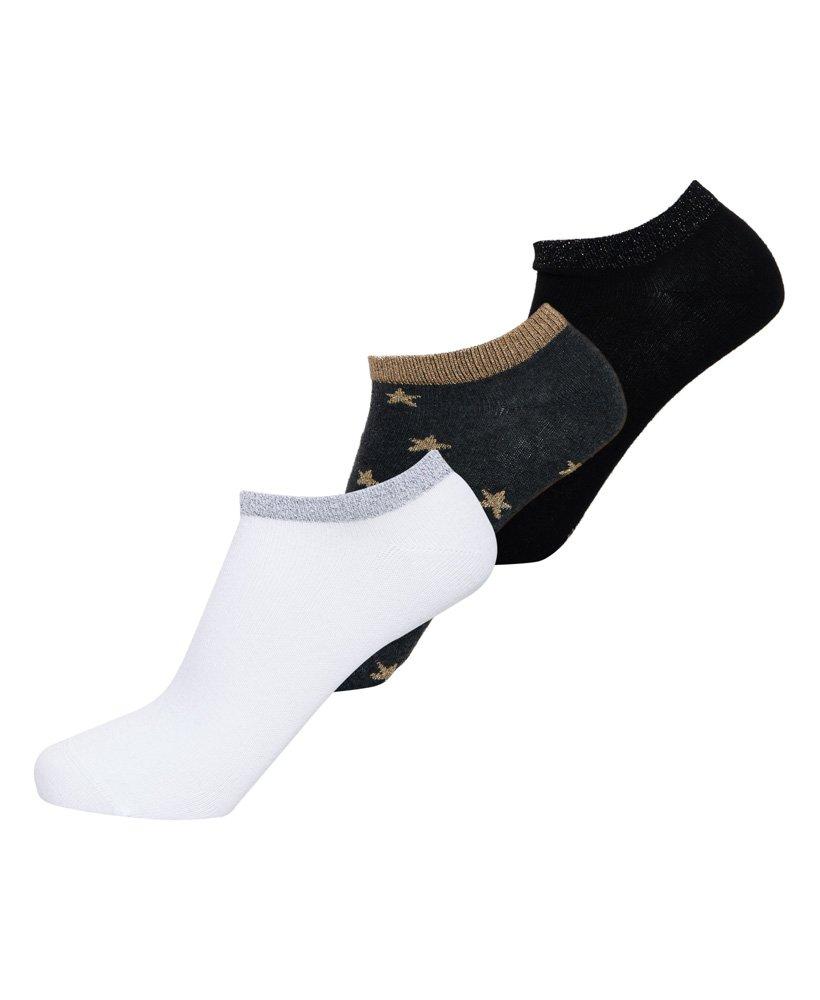Superdry Glitter Sparkle Trainer Socks thumbnail 1
