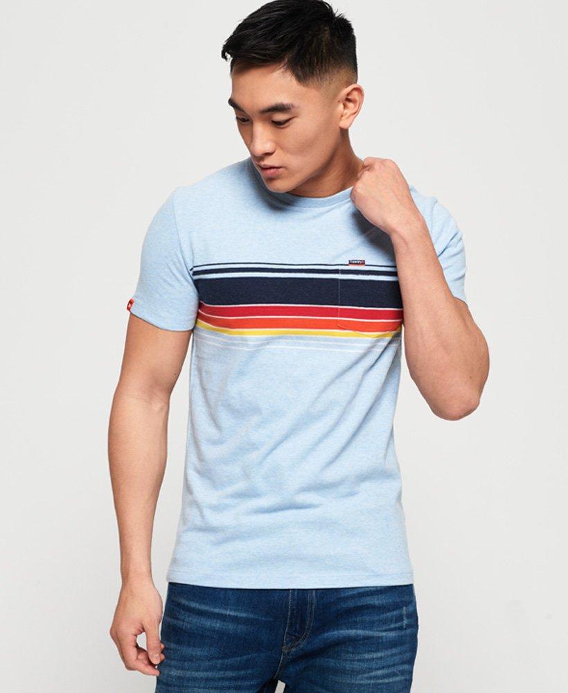 Superdry T-shirt à poche et à rayures Cali thumbnail 1