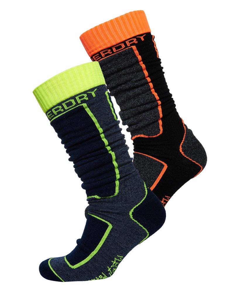 Superdry Merino Snow Socks Double Pack thumbnail 1
