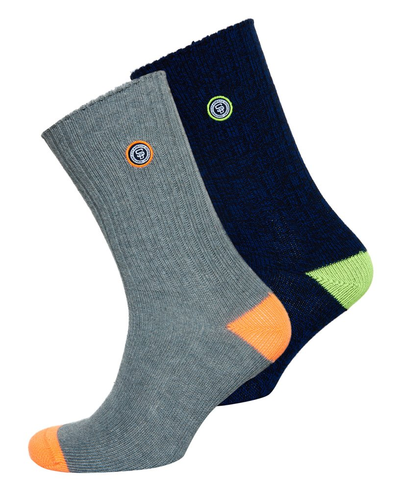 Superdry University Patch Sock Double Pack thumbnail 1