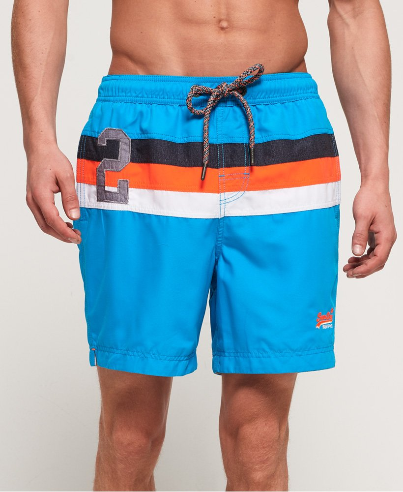 Superdry Waterpolo badebukser med stribedesign