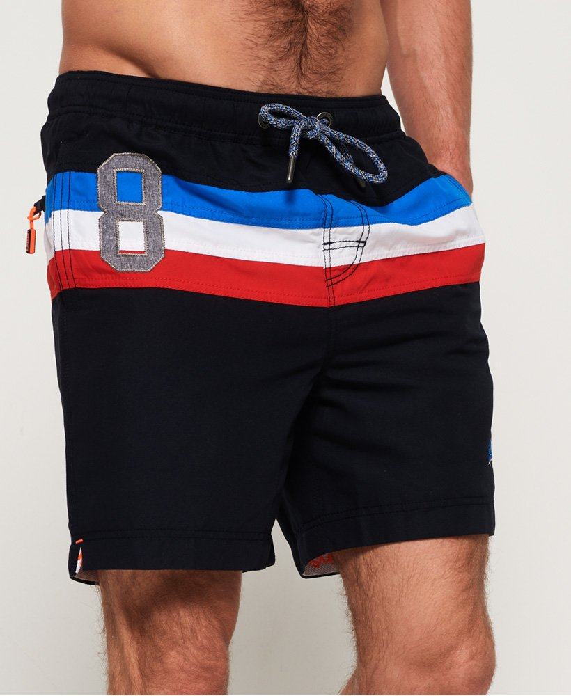 Superdry Short de bain rayé Waterpolo thumbnail 1