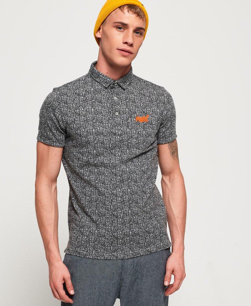 Superdry City Jersey-Polohemd mit durchgehendem Print und Tasche thumbnail 1