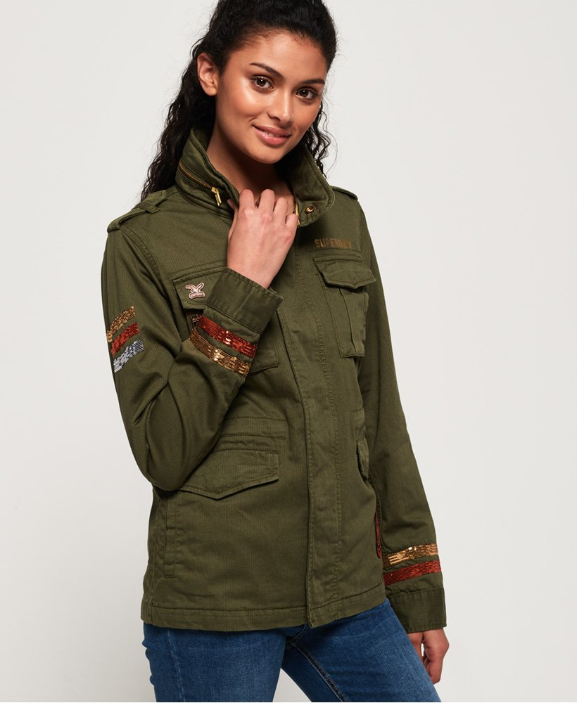 Superdry Glitter Rock Rookie Jacket thumbnail 1