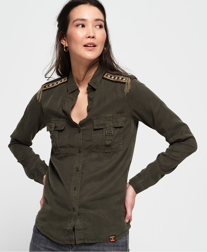 Superdry Lennox Military Shirt  thumbnail 1