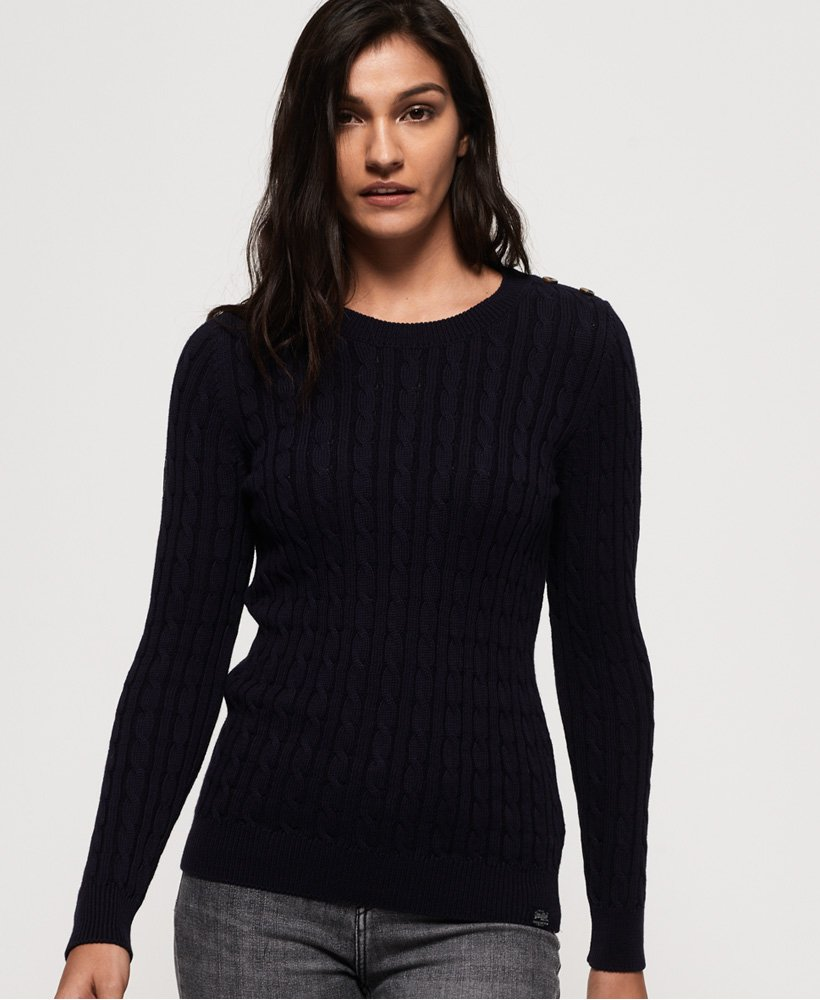Superdry Croyde Bay Cable Knit Jumper  thumbnail 1