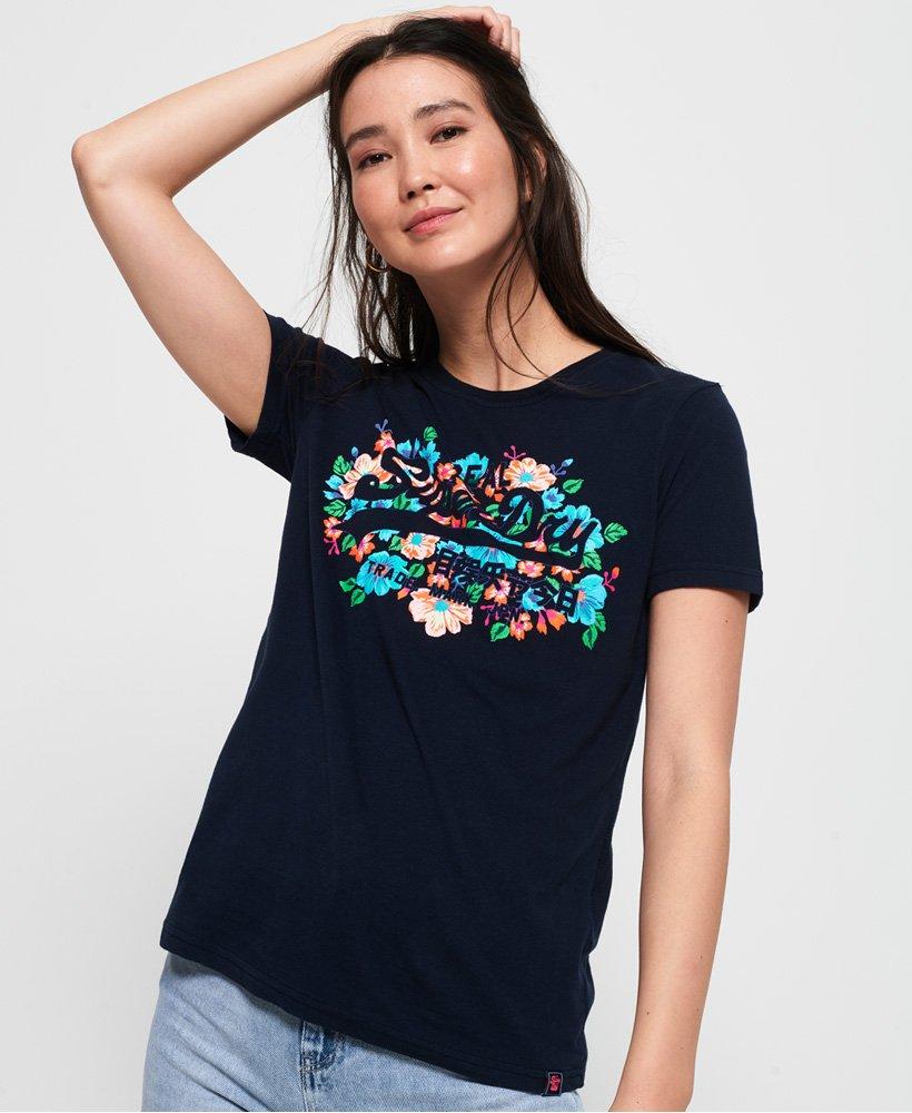 Superdry Vintage Logo Puff Floral T-Shirt thumbnail 1