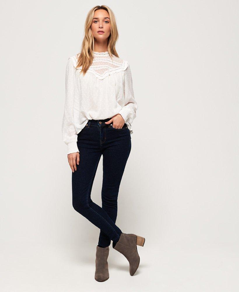 Haut Femme Superdry supervintage Mid Rise Super Skinny Jeans
