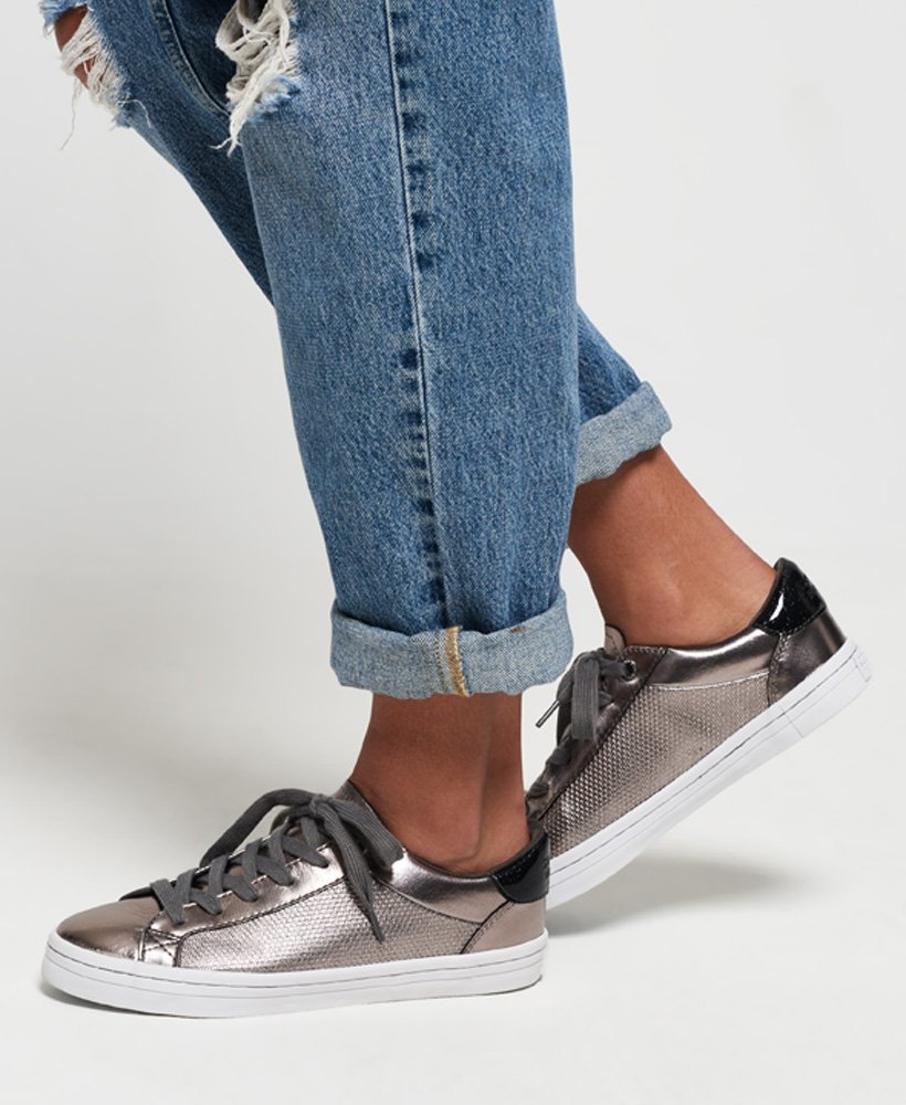 superdry silver glitter low pro sneaker