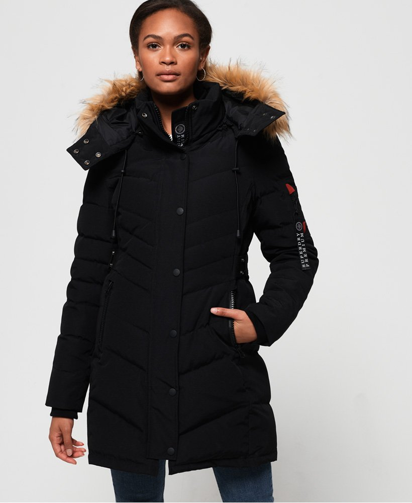 Superdry Premium Graduating Down Parka Coat thumbnail 1