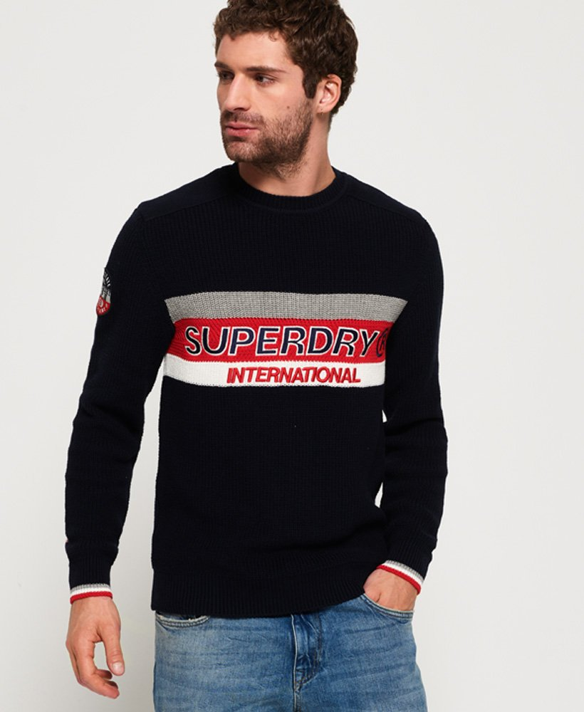 Superdry Athletic Textured trui met ronde hals thumbnail 1