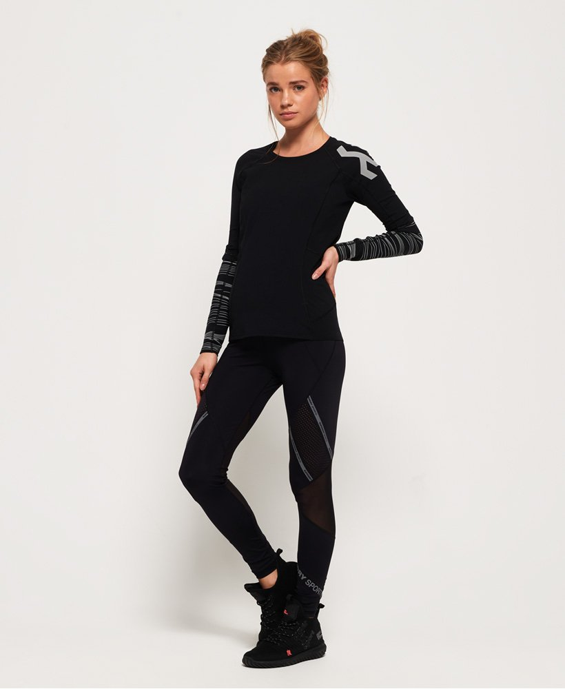 Superdry Legging à empiècements en filet Active thumbnail 1